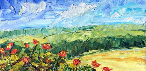 lantana on the hillside maurer fine art