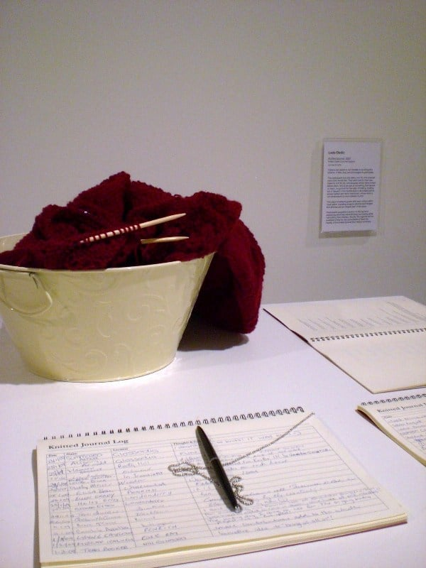 Lada Dedic Knitted Journal Knitted object & log book, 2007-ongoing Dimensions expanding