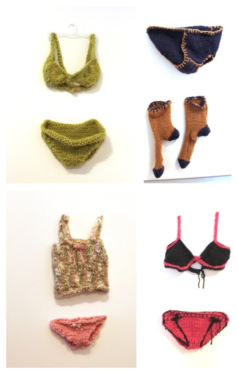 Lada Dedic The Bare Essentials  Socks and Jocks for the whole family  Knitted Object, 2010 Dimensions Variable