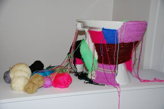Lada Dedic Cosy Commode; The Knitting Machine Knitted Object, 2010 Dimensions Variable