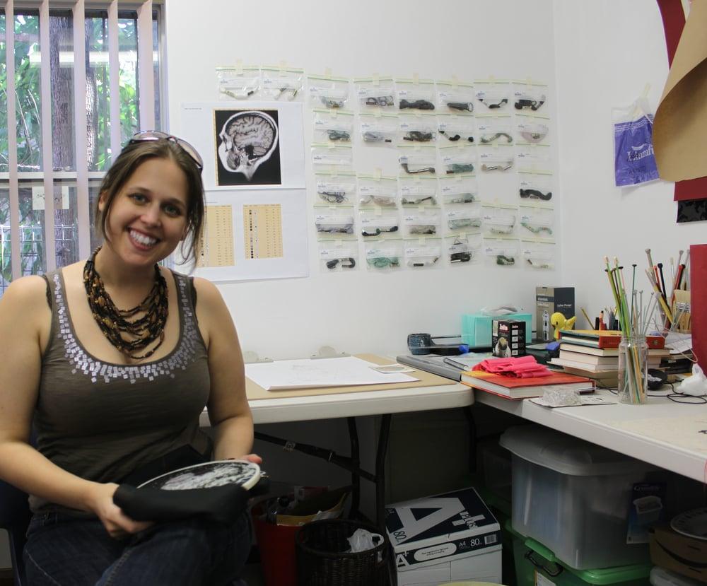 Artist Lada Dedic in her studio