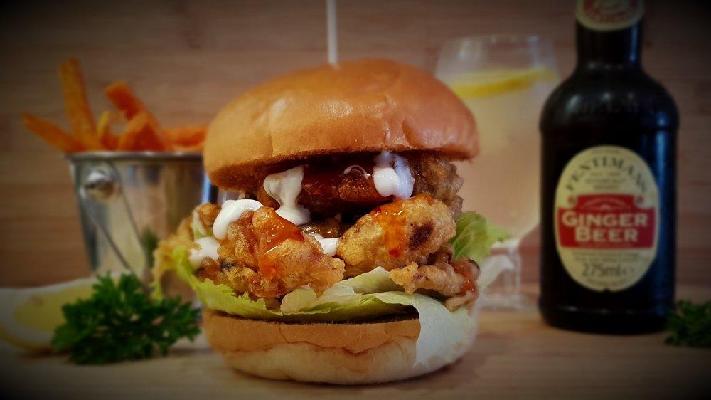 soft shell crab burger Taylor's seafood and burger restaurant.jpg