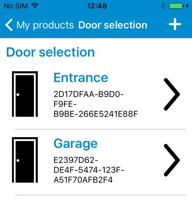Figure 1: The door selection screen