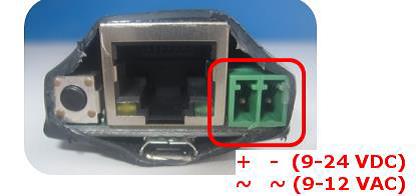 Abbildung 6: Zweipoliger Stecker zur Stromversorgung
