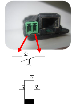 Figure 7: Controlling of motor lock/e-opener with potential-free contact