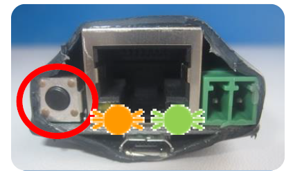 Abbildung 10: Reset-Taste und LEDs auf der Inneneinheit