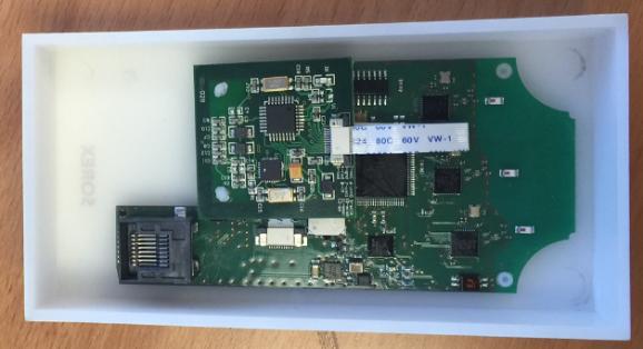 Abbildung 3: LAN-Buchse auf der Leiterplatte der Außeneinheit