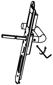 Figure 1: Attaching the door handle