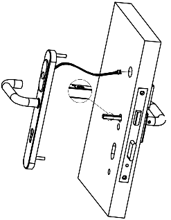 Figure 2: Connecting the cover on the outside