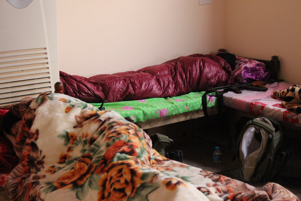 Our Kitchen sleeping quarters