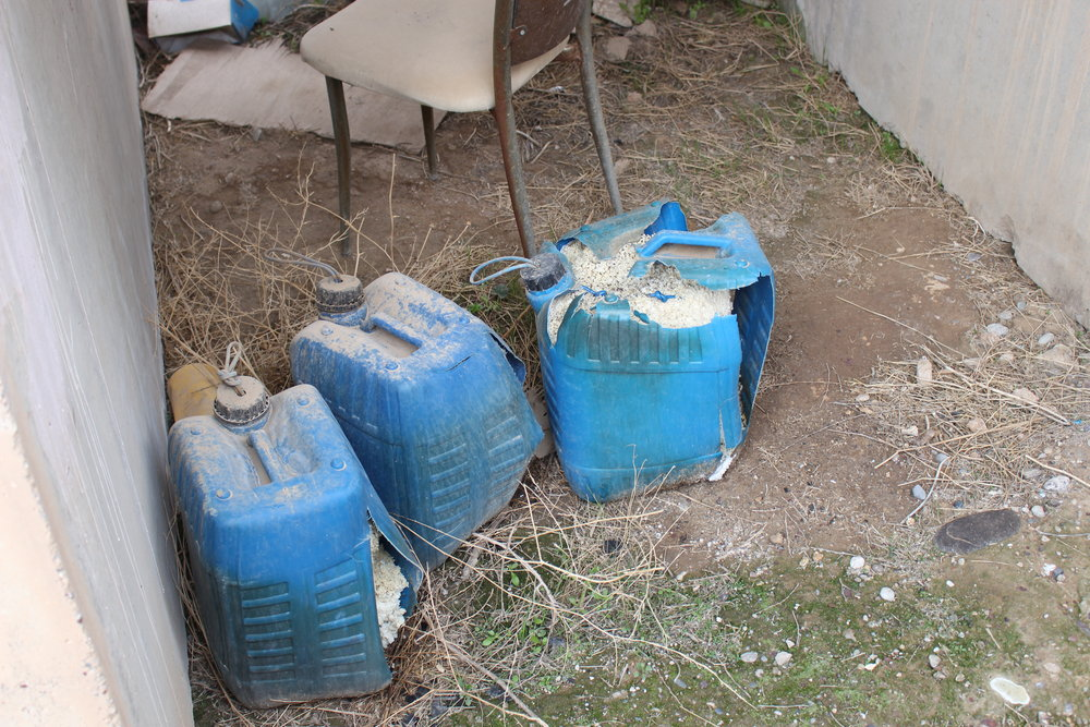 Some IED's (Improvised Explosave Devices) found near a tunnel close to the chirch