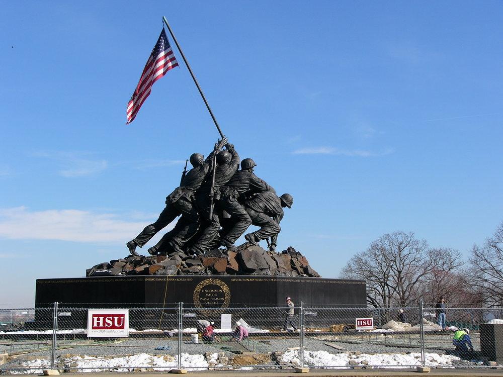 National Marine Corps Memorial -Iwo Jima - National Park Service, Arlington, VAFast-track design and development to rehabilitate the entire memorial grounds.