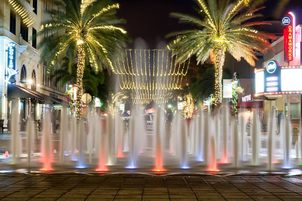 Downtown West Palm Beach Fountain