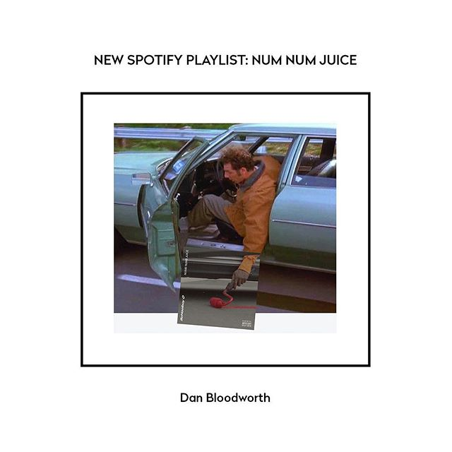 New dude Dan Bloodworth not only has a great name but he also has great taste in music. Click the link in the bio for the Num Num Juice 🥤 🔥