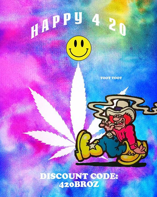 🍁 HAPPY 4-20 Broz 🍁 To celebrate this special day we have loaded up a 20% discount on the web store. Discount code: 420BROZ Enjoy 🥰