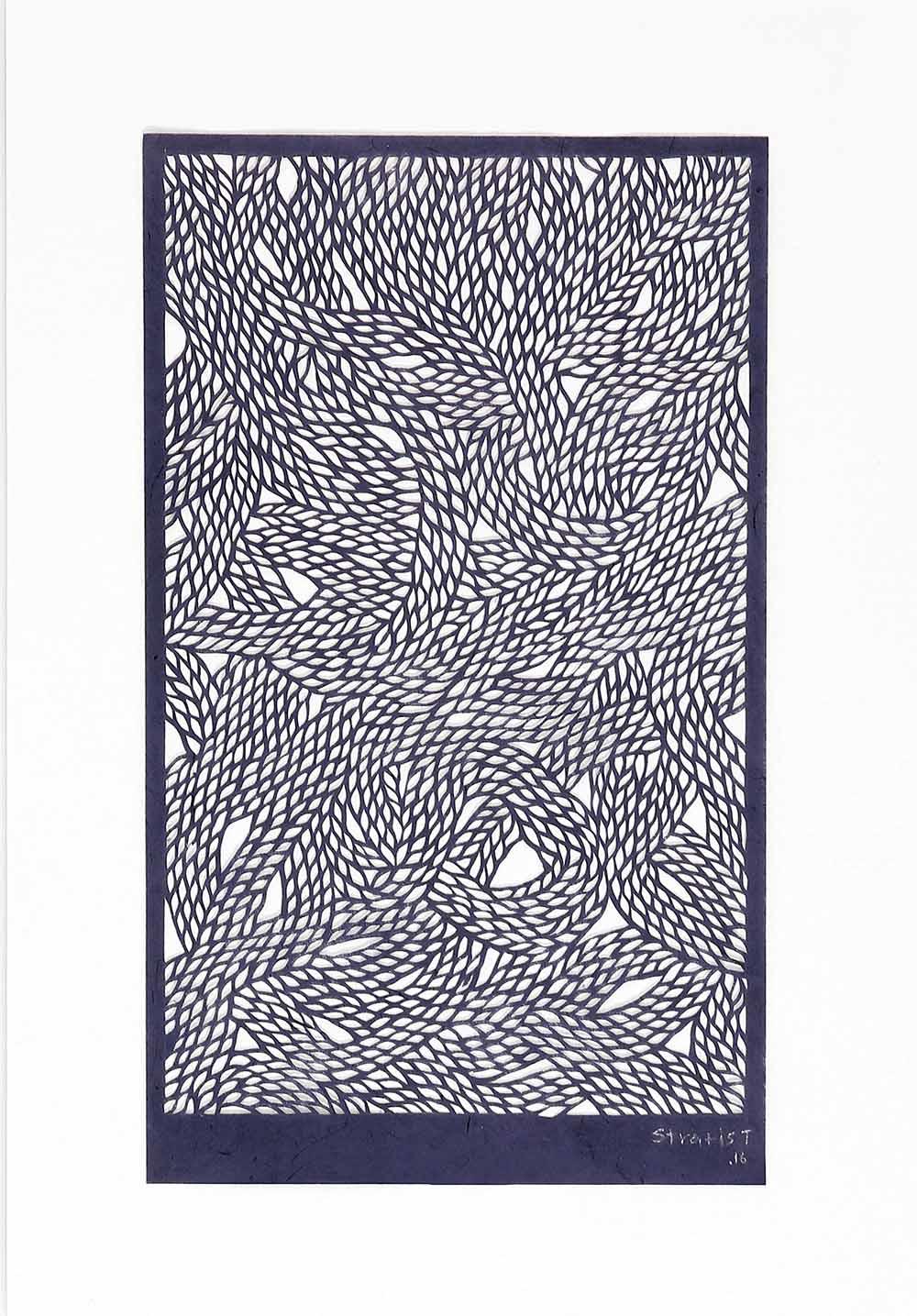 Untitled Blue Threads