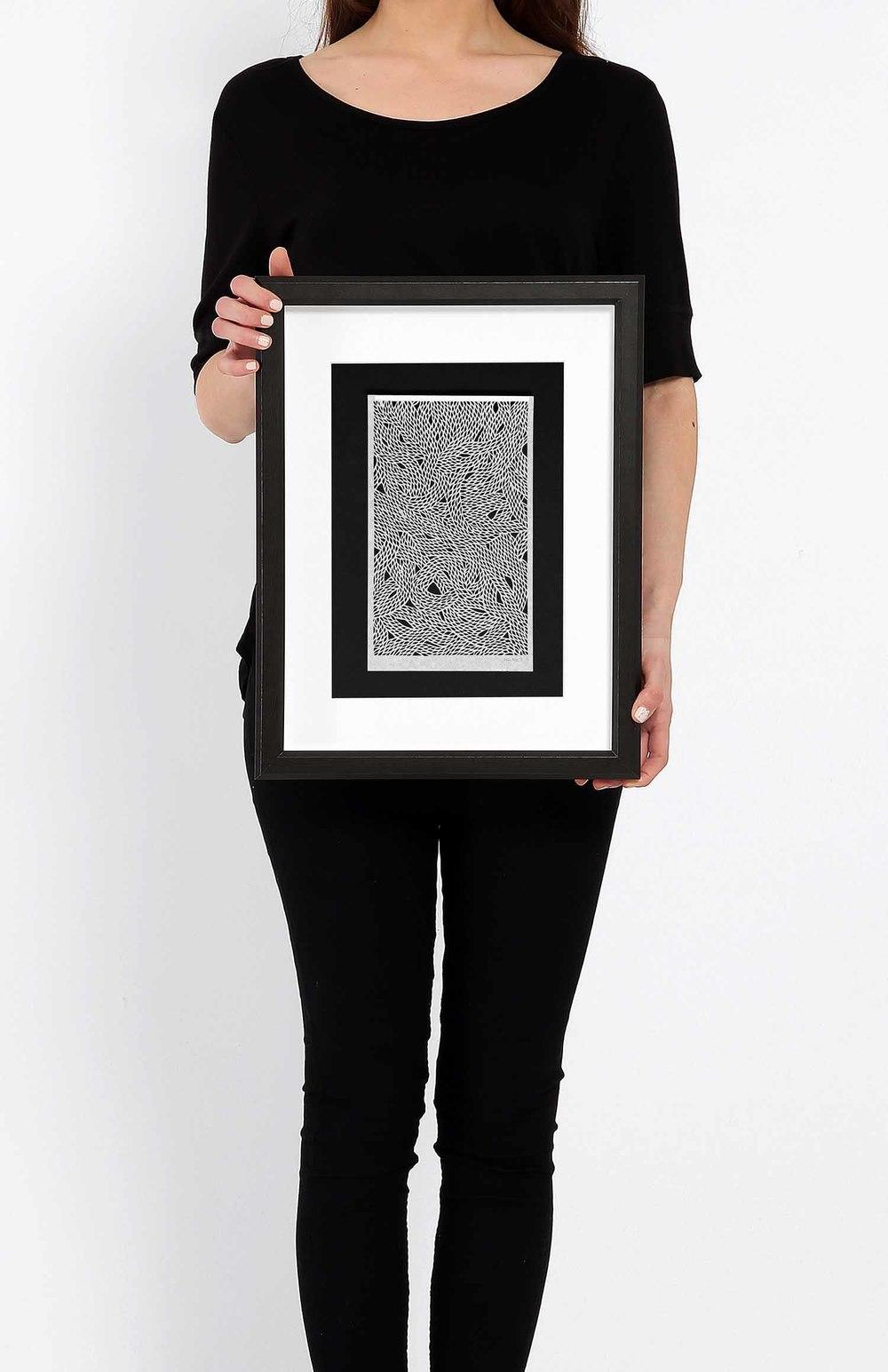 Untitled Black Threads Small on Black_Framed.jpg