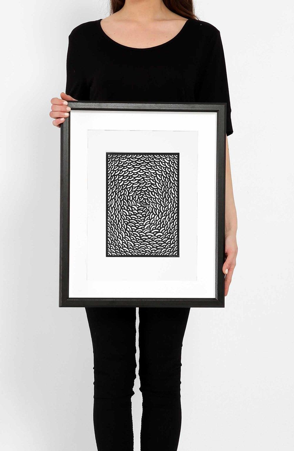 Untitled Black Arcs Medium_Framed.jpg