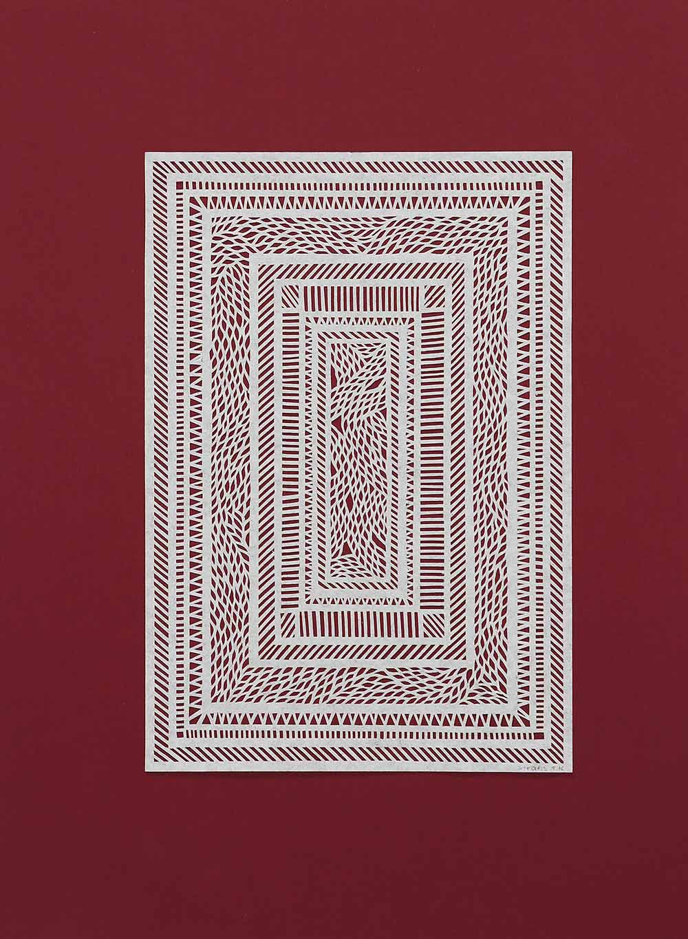 Untitled White Geometrical Medium on Red.jpg