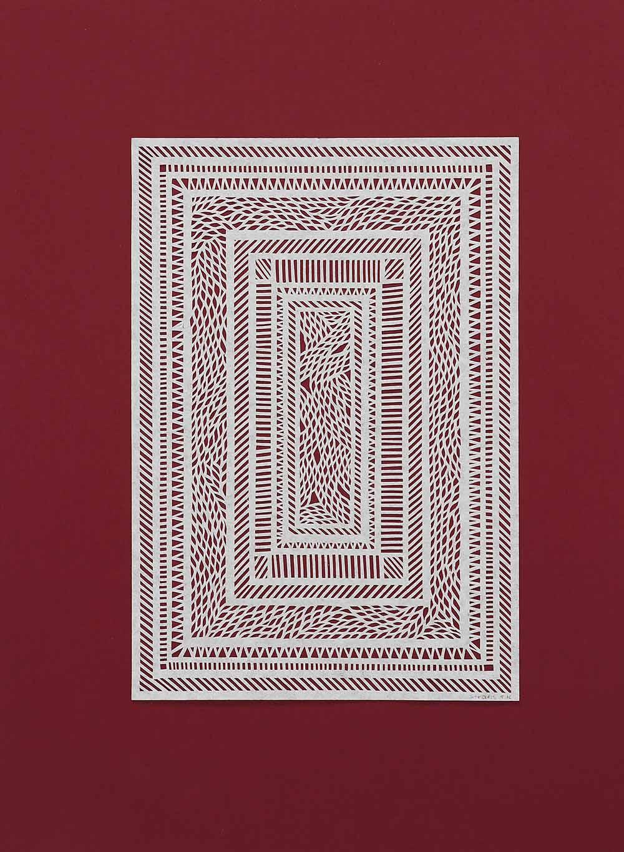 Untitled White Geometrical Medium on Red.jpg