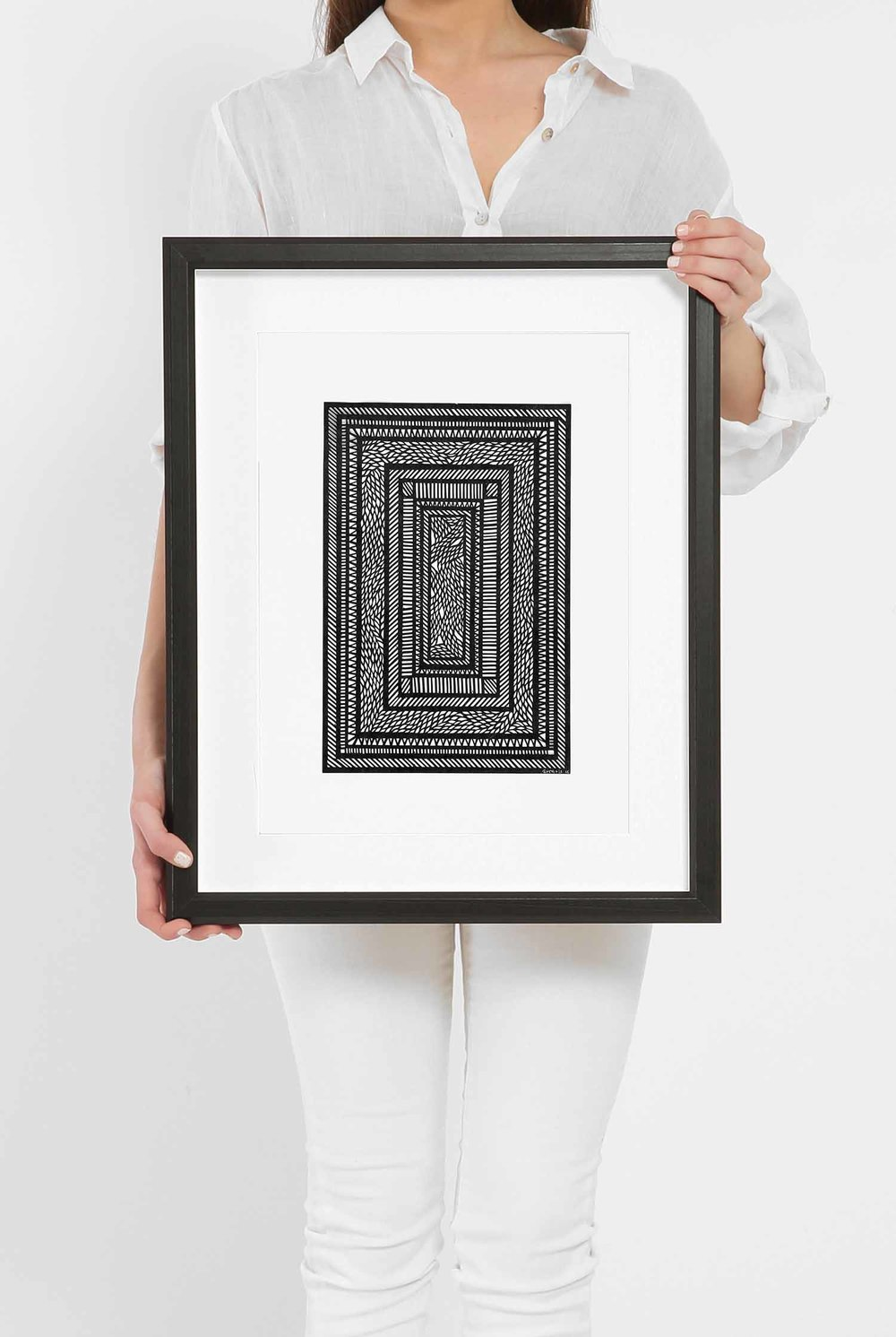 Untitled White Geometrical Medium_Framed.jpg