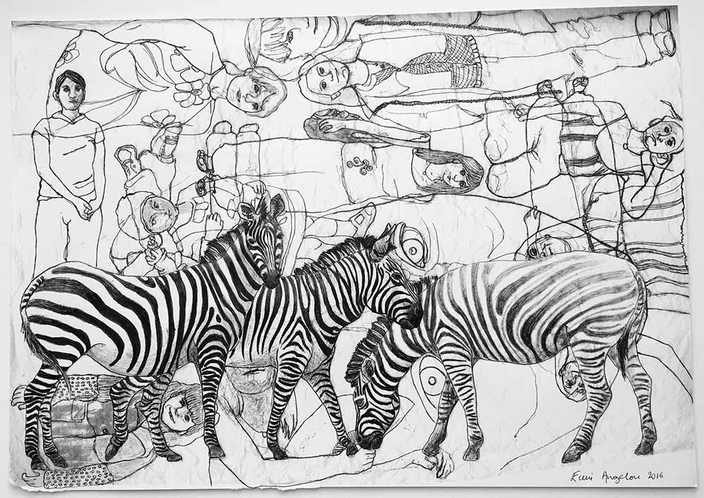 Three Zebras with overlapping memories 1