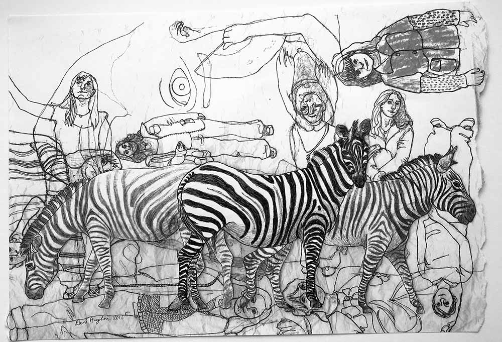 Three Zebras with overlapping memories 2