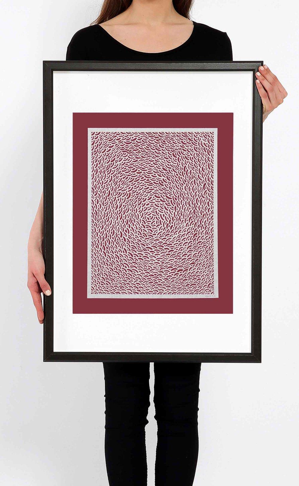 stratis_tavlaridis_untitled_white arcs_large_on_red_framed.jpg