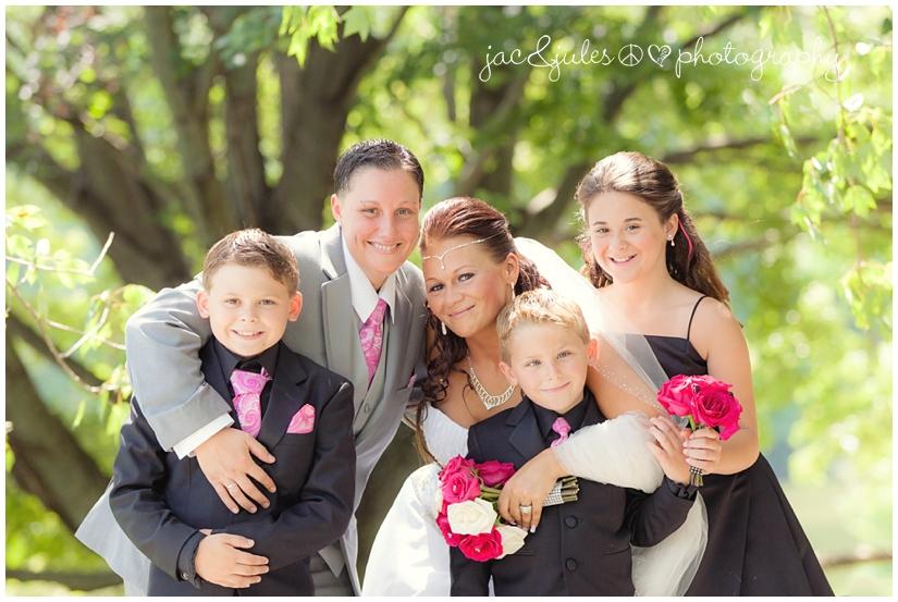 same-sex lesbian wedding family photo