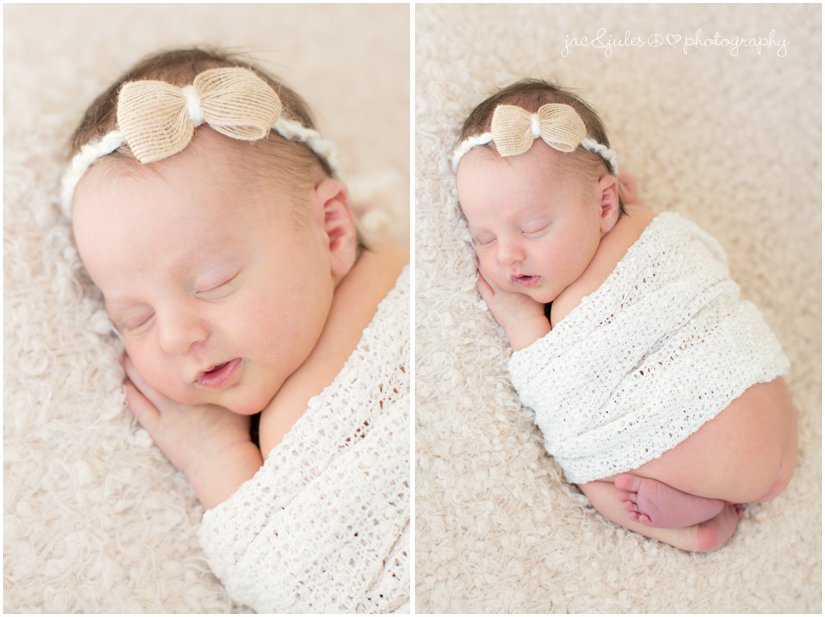 Newborn baby girl Neutral Color Scheme