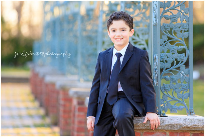 communion boy at the manor by west orange, nj family photographer jacnjules