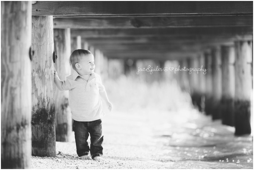 first birthday portrait by jacnjules at beachwood beach in Ocean County, New Jersey