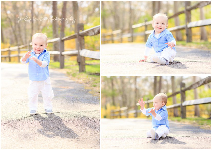 one year old boy clapping by jacnjules at beachwood beach in ocean county, nj