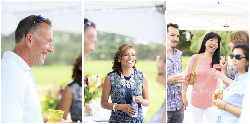 guests at outdoor farm wedding