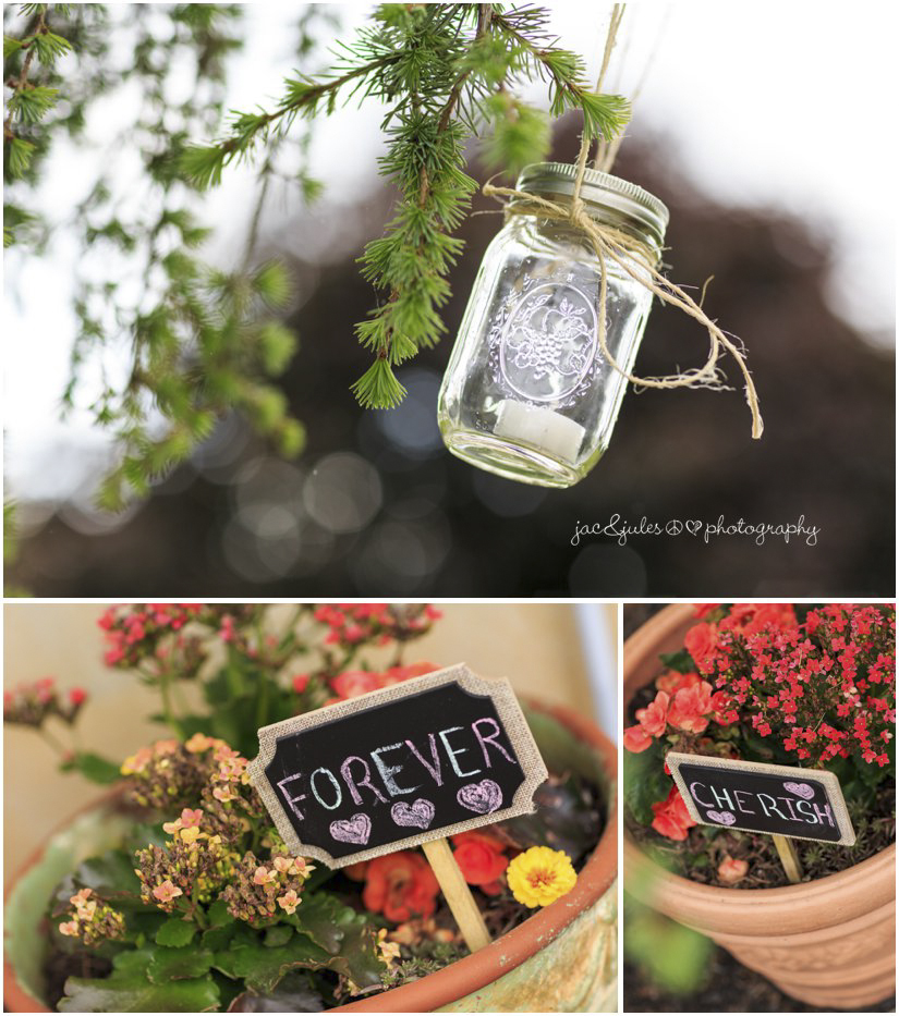 farm wedding decor and details