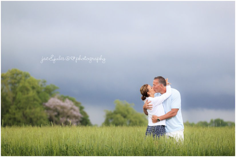 farm wedding portraits with thunderstorm rollin in
