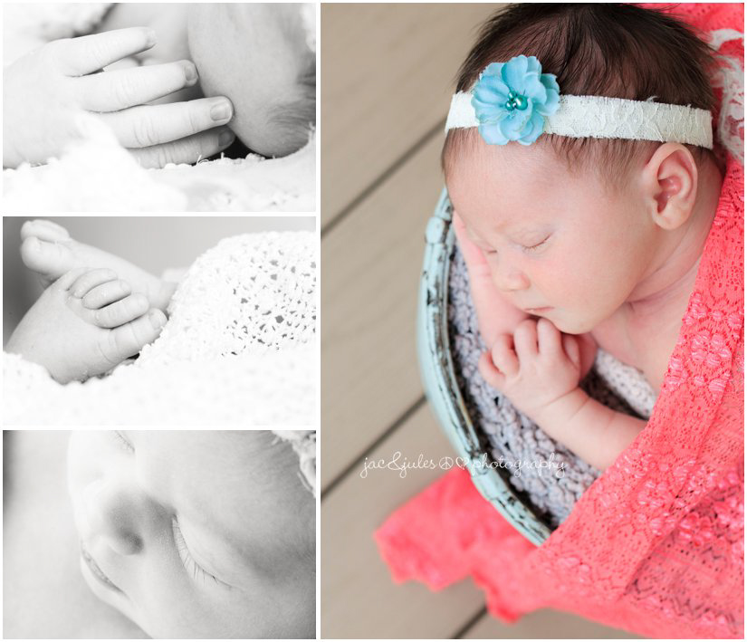 baby hand, baby foot, baby eyelashes, baby details by newborn photographers jacnjules