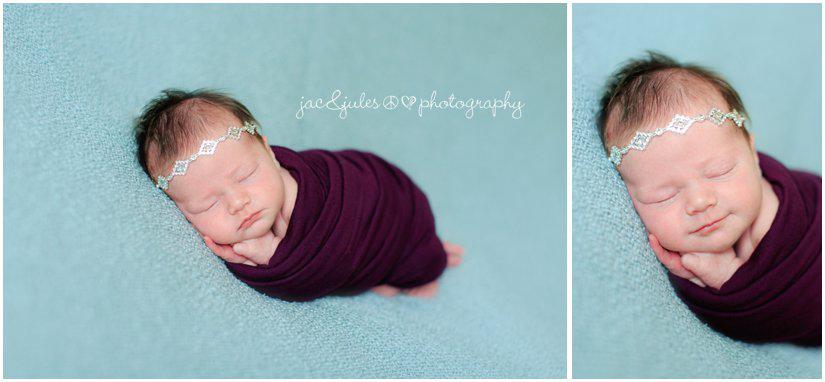 newborn baby girl by professional newborn photographers jacnjules headband by snippets