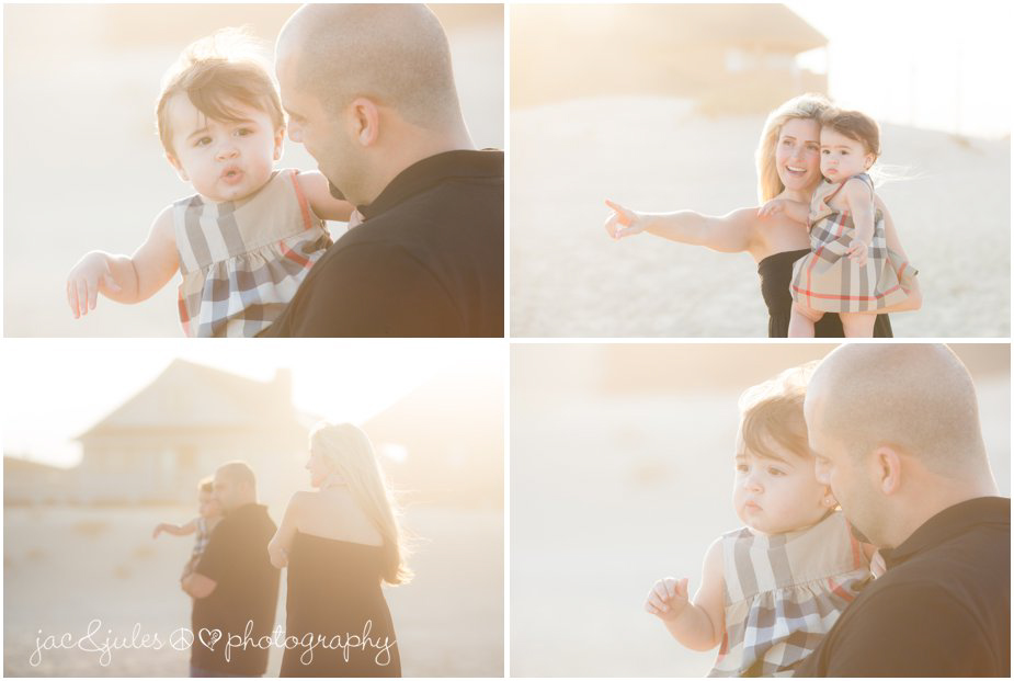 Creative and modern family photographs taken on Lavallette beach in NJ by JacnJules