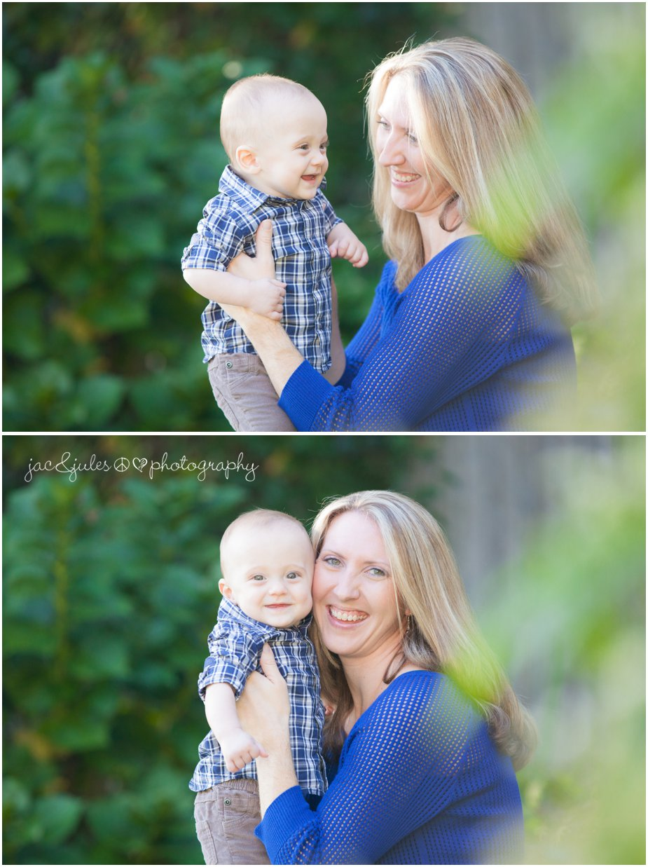 Mom and her little boy on his first birthday photographed in Toms River, NJ by JacnJules