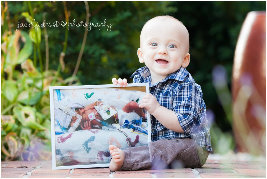 1st birthday boy overcoming the odds 1 year later photographed by JacnJules in Toms River, NJ
