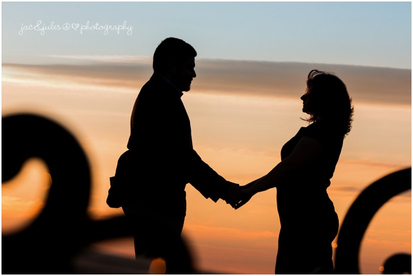 Romantic silhouette against sunset in Island Heights, NJ by JacnJules