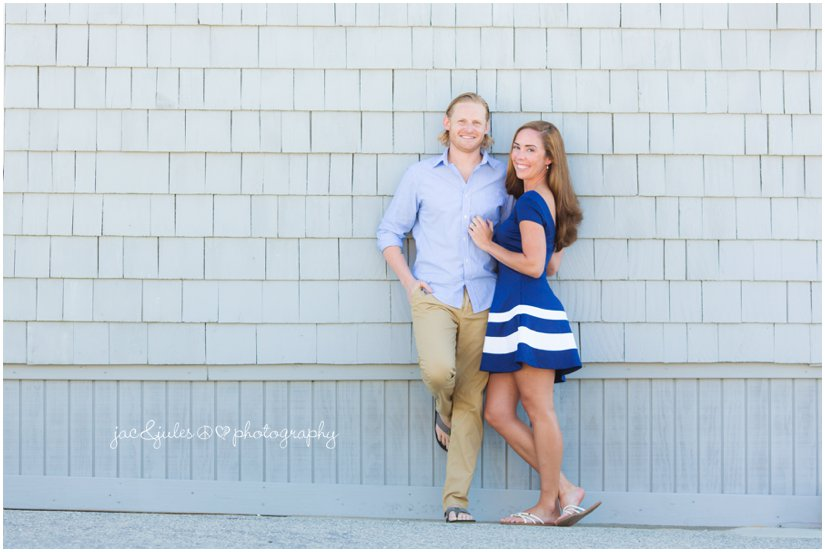 Engaged couple photographed by JacnJules in Manasquan Beach, NJ