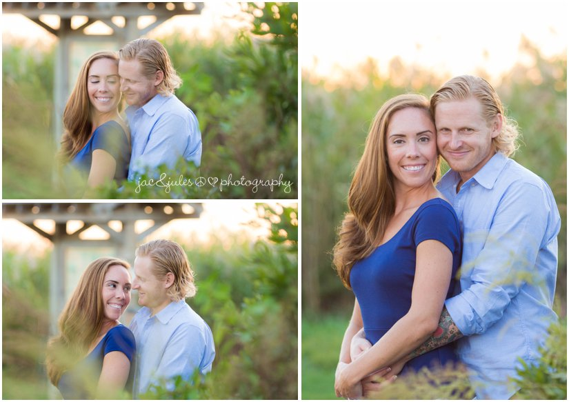 Beautiful photos of engaged couple photographed by JacnJules in Manasquan, NJ