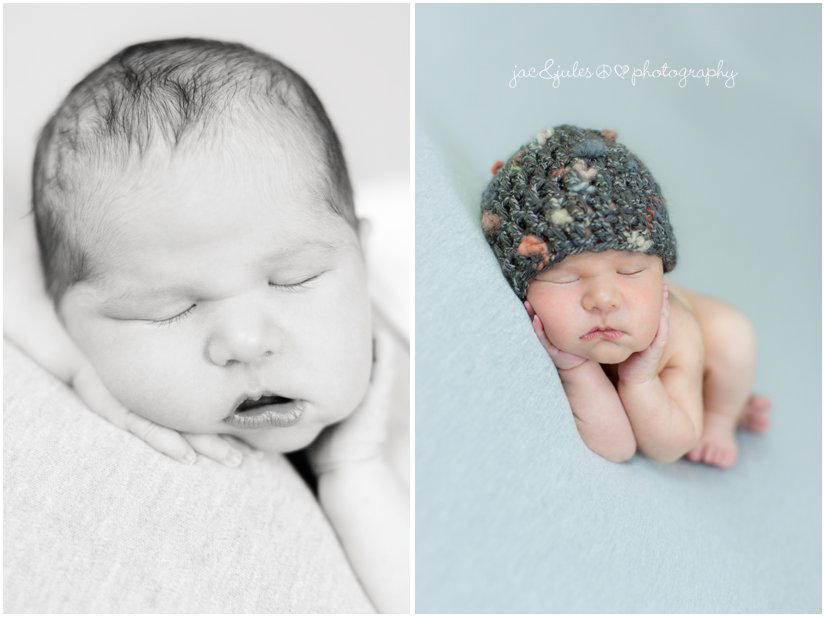 Newborn baby photos taken in Westfield, NJ by JacnJules
