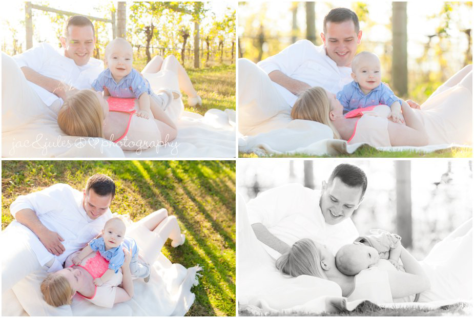 Modern and creative photos of a family and their son spending the day at Laurita Winery in Ocean County NJ by JacnJules