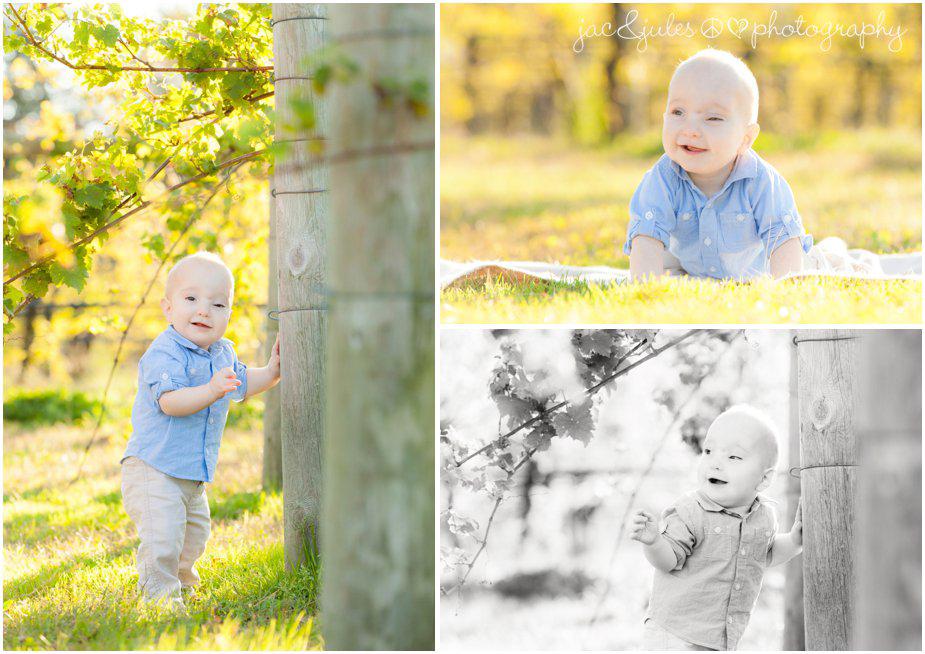Birthday boy having fun in the vineyards of Laurita Winery in NJ taken by JacnJules
