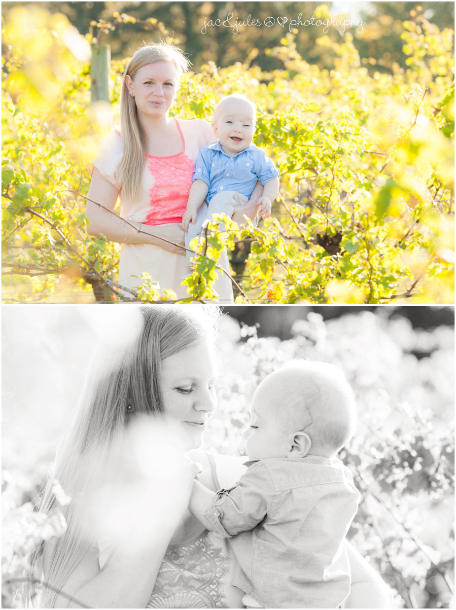 Mom spending quality time with her 1yr old son at Laurita Winery in NJ by JacnJules