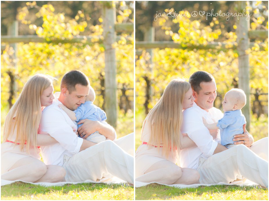 A family embraces at Laurita Winery in NJ photographed by JacnJules