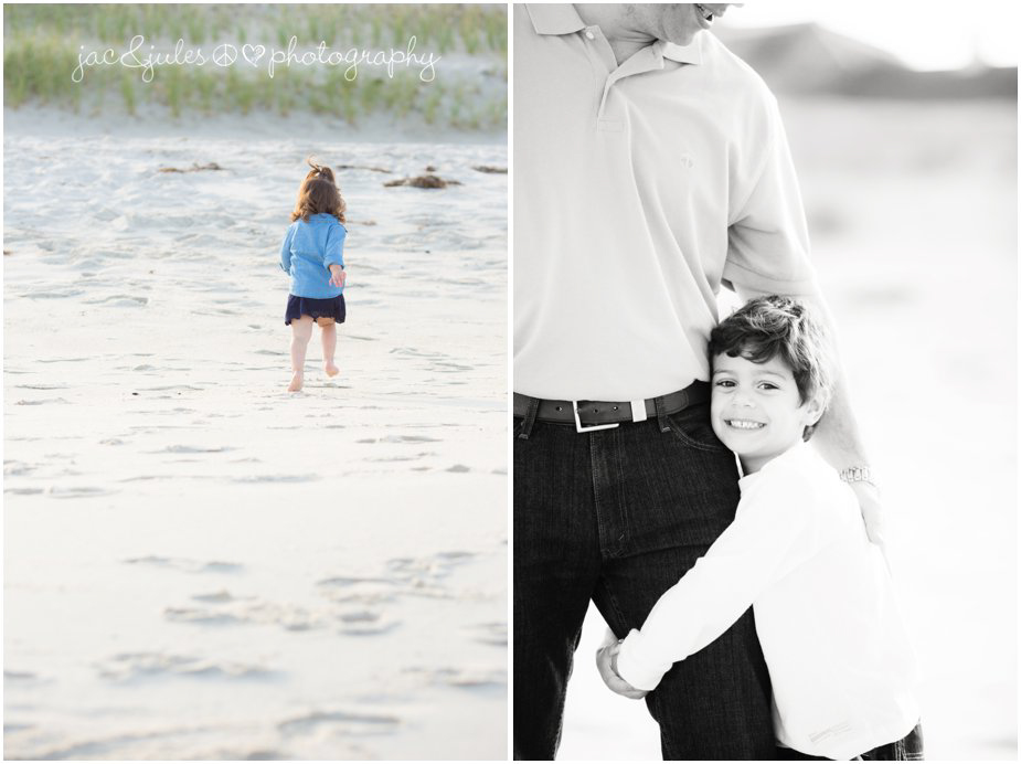 Creative and candid shots of family on Lavallette Beach, NJ by JacnJules